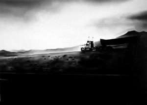 Endless land, acrilico su tela, 50 X 70 cm., 2001