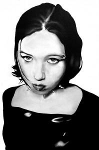 Girlhood, acrilico su tela, 30 X 20 cm., 2001