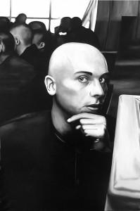 Lascia che ti guardi, acrilico su tela, 150 X 100 cm., 2003