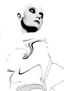 Lascia che ti guardi, acrilico su tela, 70 X 50 cm., 2002