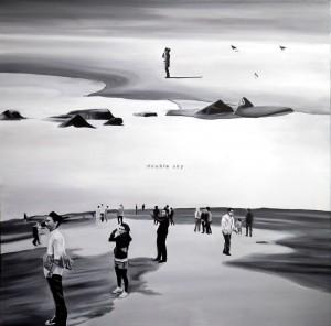 Double sky, acrilico su tela, 100 X 100 cm, 2013