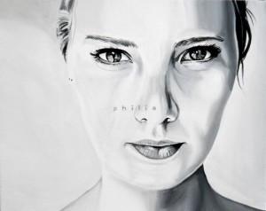 Philia, acrilico su tela 50 X 40 cm, 2014