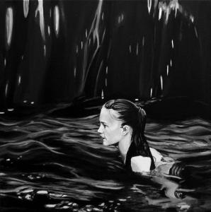Dark Water, acrilico su tela, 40 X 40 cm., 2017