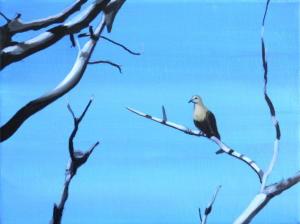 Birdtree 11, acrilico su tela, 24 X 18 cm., 2019