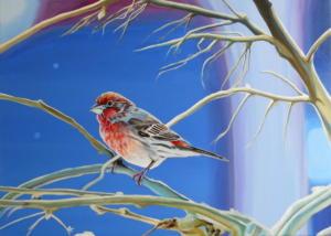Birdtree 24, acrilico su tela, 70 X 50 cm., 2019