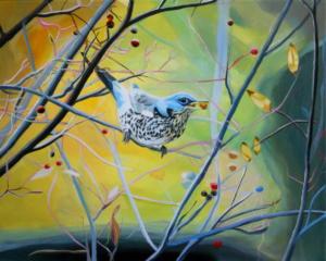 Birdtree 25, acrilico su tela, 50 X 40 cm., 2019