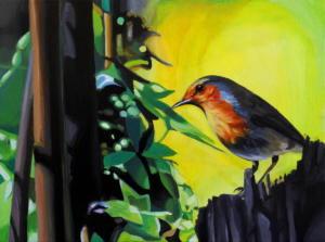 Birdtree 26, acrilico su tela, 40 X 30 cm., 2019