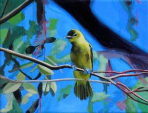 Birdtree 27, acrilico su tela, 24 X 18 cm., 2019