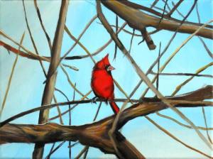 Birdtree 9, acrilico su tela, 24 X 18 cm., 2019