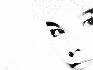 White Noise (Bjork) matita su carta, 30 x 40 cm, 2008