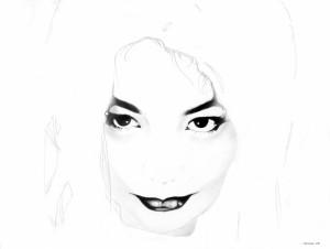 White Noise (Bjork 2), matita su carta, 30 X 40 cm, 2008