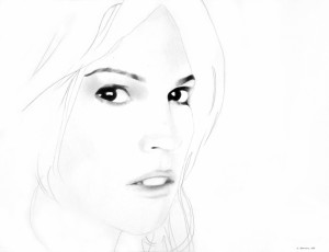 White Noise (Hilary), matita su carta, 30 X 40 cm, 2008