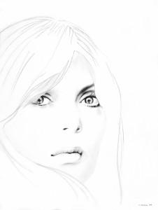 White Noise (Nico), matita su carta, 40 X 30 cm, 2008