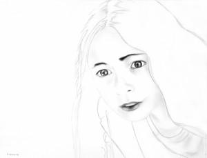 White Noise 9, matita su carta, 30 X 40 cm, 2008