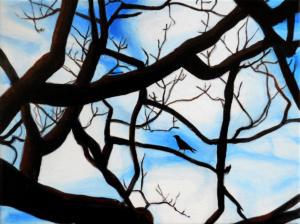 Birdtree,-acrilico-su-tela,-24-X-18-cm