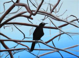 Birdtree-2,-acrilico-su-tela,-24-X-18-cm