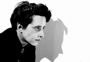 Hanna Arendt, acrilico su tela, 100 X 70 cm., 2016
