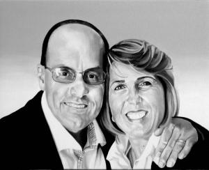 Pier Paolo e Milena, acrilico su tela, 50 X 40 cm., 2017