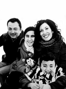 Stefano, Gabriela, Alice e Antonio, acrilico su tela, 60 X 80 cm., 2016