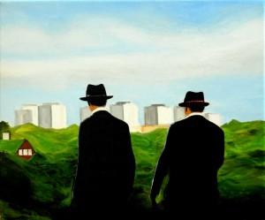 Brotherhood, acrilico su tela, 35 X 25 cm., 2016