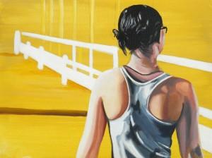 Runner, acrlico su tela, 24 X 18 cm., 2015