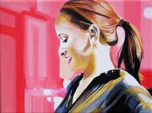 Senza titolo, acrilico su tela, 18 X 24 cm, 2010