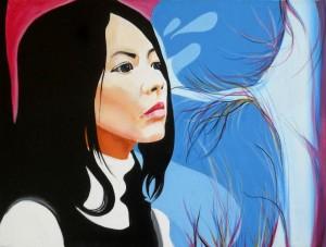 Woman, acrilico su tela, 40 X 30 cm., 2012